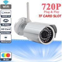 720P HD 1.0 Megapixel Wireless IP Camera Support TF Card Outdoor Security WIFI CCTV Camera IR Cut P2P Night Vision IR Web Cam