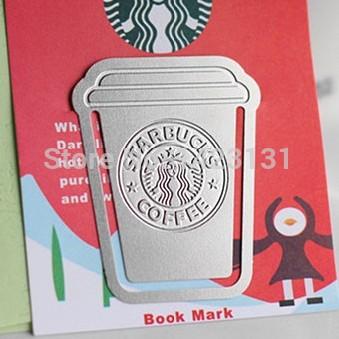 stainless steel starbucks coffee bookmark, metal starbucks bookmark(China (Mainland))