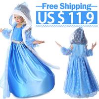 YISMALL 2014 Hot Baby girls Frozen Anna Elsa coronation party princess dresses halloween costume,Christmas Winter Kids clothing