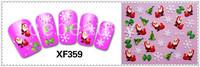 5sheets/lot Christmas Design Nail Art Water Decal Sticker