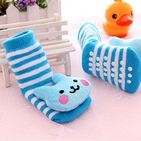1Pairs Free shipping Cute Animal  Baby Socks Newborn Baby Girl Boy Cotton Cartoon Anti-slip Soft Shoe Socks Wholesale Lc1022