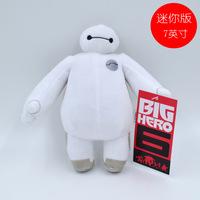 Retial 7 inch 18 cm Moive Super Marines Big Hero 6 Baymax Robot Stuff Short  Plush Animal Toys Christmas Gfit H0140936