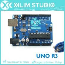 Бесплатная доставка! оон R3 AVR микроконтроллер совета основание на DIP ATmega328 с USB кабель для Arduino UNO rev3, высокое качество