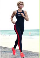 2014 New Brand High Waist Sporting Cotton Leggings Casual Elastic Gym Fitness Yoga Pants Jeggings