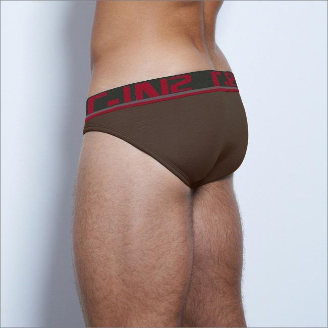 Cin2 brand High quality low waist men s basic briefs cotton bikinis male u convex bag