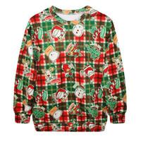 Fashion Harajuku Sweaters and Pullovers Digital Printed Sweatshirt Xmas Homme Femme Christmas Plaid Hoodies