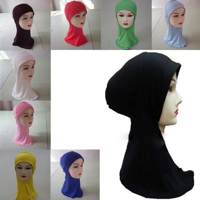 Fashion Islamic Turban Head Wear Band Neck Chest Cover Bonnet Muslim Short Hijab Shawls Arab Women Scarf(China (Mainland))