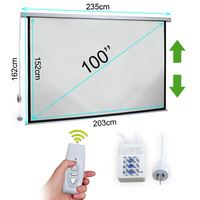 "TV Cinema HD Projector Screen 100"" Company / Home Use Electric Motorised Australia warehouse TOLL fast ship"