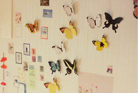 paper wall deco butterfly 15ea/set pastoral wallpapers