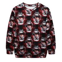 Fashion Harajuku Sweaters and Pullovers Digital Printed Sweatshirt Xmas Homme Femme Christmas Tie-dye snowman Hoodies