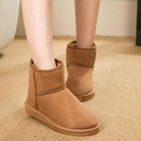 Winter Cotton-padded Flat Thick Waterproof Warm Boots for Women