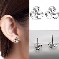2014 Brand New FASHION clover Stud Earrings for Women