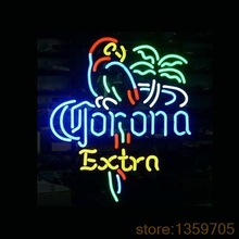 """NEW CORONA EXTRA PARROT NEON SIGN REAL GLASS  BEER BAR PUB LIGHT SIGNS store display 17*14""""(China (Mainland))"""