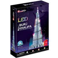 Cubic Fun 3D Puzzle Toys LED Burj Khalifa (Dubai) Model DIY Education Puzzle Gift L133h