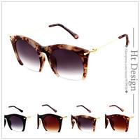Brand Design Retro Sunglasses Men Fashion Half Frame Metal Vintage Coating Sunglass Women Oculos de sol With Brand LOGO