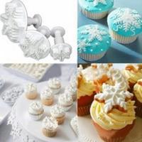 New 2014 fashion Snowflake Fondant Cake Decorating Plunger Sugarcraft Cutter Mold Tools Bakeware Tools