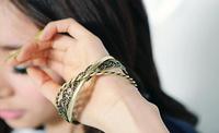 BL058 New Fashion South Korean fashion in Europe three-ring twist bangle bracelet jewelry 2014