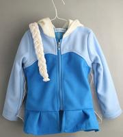 CS051 Free shipping 2014 new girls frozen winter coat frozen Elsa Anna girls hooded jacket lovely kids warm outwear retail