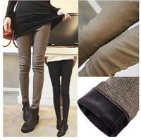Plus Size S-XXXL Fashion Formal Pants Winter Women thickened Boot Cut Pocket Jeans Plaid Sport Trousers Skinny Pencil Sweatpants