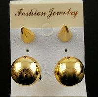 Pearl rivet earrings sand ball stud earring anti-allergic small accessories