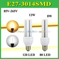 1Pcs Amazing Newest High Brightness 8W 12W E27 B22 E14 SMD 3014 LED Lamp Light Bulb 80 120 LEDs AC 110 220V 85-265V