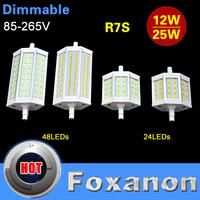Foxanon Brand Dimmable R7S LED Light 10W 15W J78 78mm J118 118mm 85-265V 220V 110V SMD 5730 Bulb lamp Replace halogen floodlight