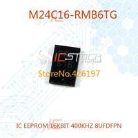 M24C16-RMB6TG IC EEPROM 16KBIT 400KHZ 8UFDFPN 10pcs