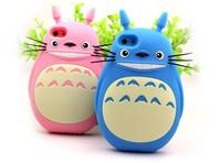 "Wholesale 50 pcs/lot Cute 3D Cartoon Chinchilla Totoro Soft Silicone Case Back Cover for iPhone 6 4.7"" Plus 5.5"""