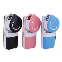Бесплатная доставка, ручной кондиционер вентилятор, можно подключить USB мини вентилятор, портативный улыбающееся лицо, листья охлаждения мини вентилятор