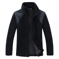 2014 Winter Zip Jacket Men Sport Coats blazer Man Button fleece Outerwea homens jaqueta windcheater Plus Size 2XL-5XL Hot Sale