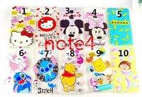 Ultrathin Translucence Hello Kitty Mickey Minnie Lilo Stich Winnie Piglet Case Skin Back Cover For Samsung Galaxy Note4 IV N9100