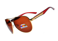 2014 men polarized sunglasses 0853 goggles Metal double beam thick legs driving sun glasses