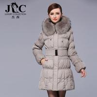 2014 women's winter fashion luxurious fox fur plus size high quality slim medium-long fur down coat