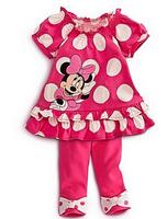 2014 New Free shipping! T shirt +skirt minnie children'set girls set  cartoon girls clothing