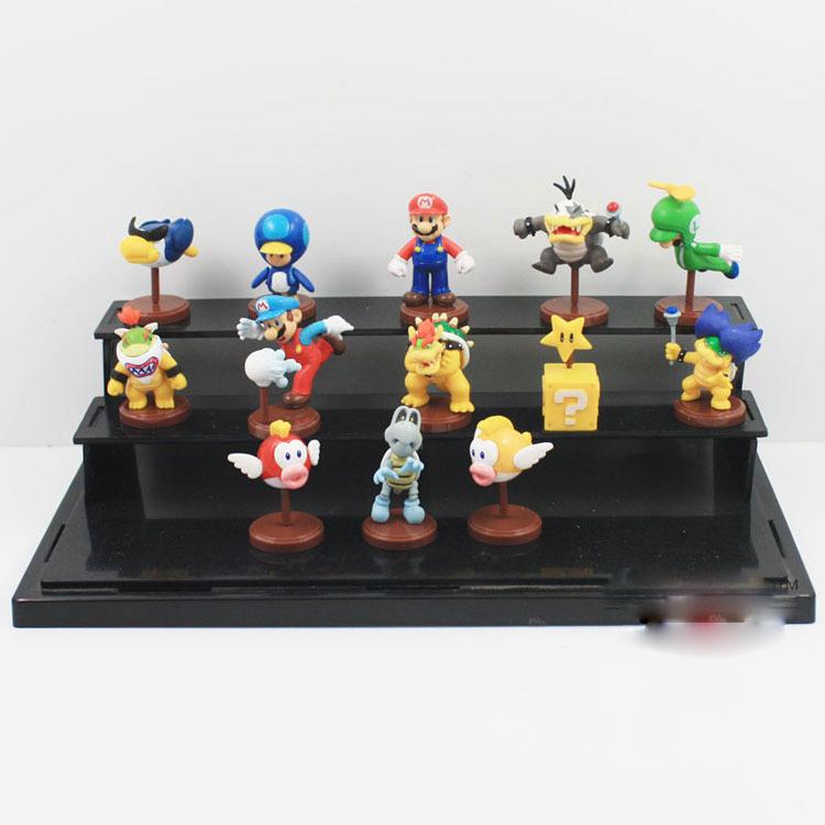 EMS 60 Комплектов Original Аниме Super Mario Bros 3 см Супер Марио Йоши Динозавров ПВХ Игрушка Фигура 13 шт./компл. с в Коробке