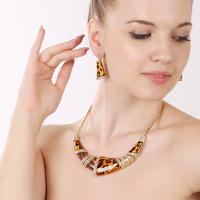 Leopard print fashion sexy decoration necklace short design necklace fashion jewelry set accessories necklace set