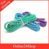 20pcs 3M 10FT Fabric Braided Cable Nylon Data Sync Charging Cords for iphone 5 5s 5c ipad 5 ipad mini ipod nano ipad touch 5