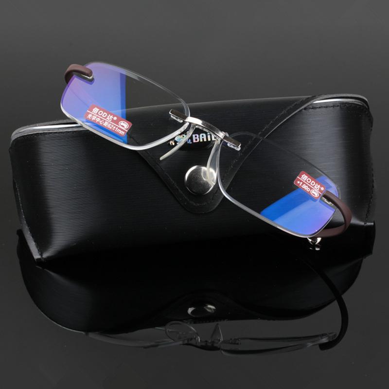 TR 90 Flexible Temples AC lenses Frameless Reading Glasses for Men(China (Mainland))