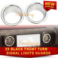 A Pair of Fog Light Bezel For Jeep Wrangler JK Front Cover Trim 2007~2014 ABS plastic