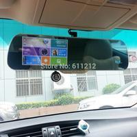 2015 5.0 inch Touch car dvr Android GPS WiFi FM G-Sensor FHD 1080P parking car dvr Rearview mirror dash cam  Dual Camera GPS