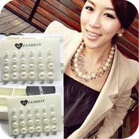 0580 accessories earring pearl size stud earring 12 plate