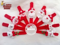 20pcs/lot Christmas party toys Wrist Strap Christmas Supplies Decoration Small Gift for kids Santa Claus Snowman Deer s31