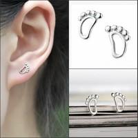 2014 Brand New FASHION Lovely Little feet Stud Earrings for Women