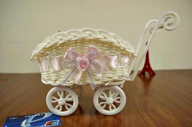 Rattan handicraft gifts home four carts storage basket storage basket basket placed cosmetics boutique(China (Mainland))