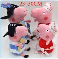 23-30CM Peppa Pig ballet Peppa pirates Geoge Plush Cartoon Kids Toys 4PCS/SET Pepa/Pepe/Pink/Pepper Pig Soft Stuffed Animal Doll