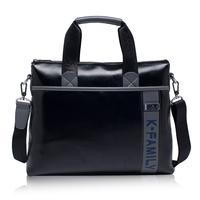 201New winter men's handbag shoulder bag square cross-section bag Messenger bag business briefcase computer bag