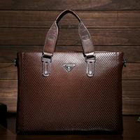 2015 Rushed Hot Sale Medium(30-50cm) Cell Phone Pocket Men Man Bag Handbag Shoulder Men's Briefcase Computer Authentic Boutique