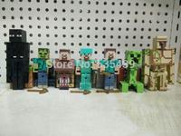 hot ! NEW 7pcs/set 10-13cm My world Minecraft jj Steve PVC Action Figure Model toys Christmas gift toy