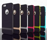 "Wholesale 50 pcs/lot OEM Luxury Hybrid PC + TPU Silicone Soft Case Back Cover for iPhone 6 4.7"" Plus 5.5"""