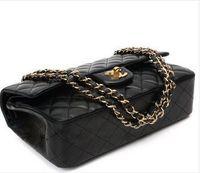 Free Shipping 2014 channelled bag gold chain bag women handbag shoulder bag TOP QUALITY Messenger bag
